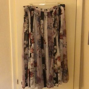 Anthropologie/Varun Bahl floral skirt